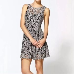 Free People Miles of Lace Sheer Mini Dress